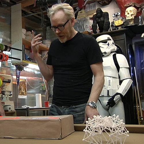 Inside Adam Savage's Cave featuring the 3D printed Strandbeest - Adam Savage from Mythbusters demonstrates the 3D printed Strandbeest