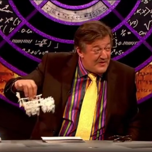 BBC's QI featuring the 3D printed Strandbeest - Stephen Fry, Jimmy Carr and Alan Davies amazed and excited about the 3D printed Strandbeest